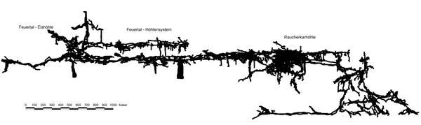 Schönberg Höhlensystem - Aufriss